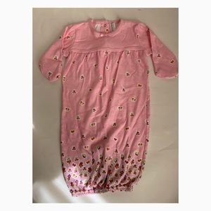 Carter's Baby Girl's Pink Sleeper Gown 0-3 mos.